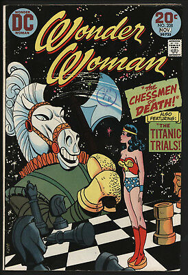 Wonder Woman #208 1974 With White Pages!