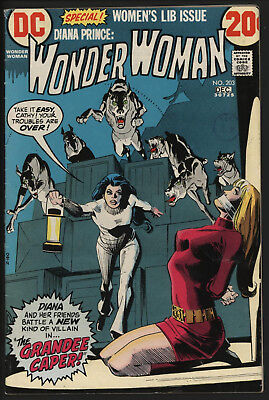 Wonder Woman #203 1972 With White Pages!
