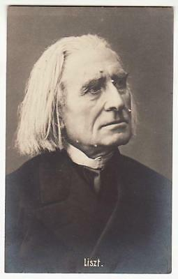 REAL PHOTO POSTCARD FRANZ LISZT HUNGARIAN COMPOSER CONDUCTOR PIANIST c1910