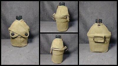 WW2 USMC Canteen Cover with Canteen Named