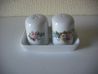 Royal Vale China Floral Design  Cruet Set With Matching Stand New