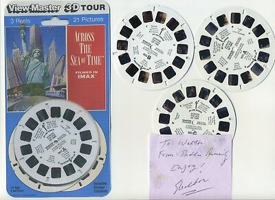 Across the Sea of Time IMAX Signed View-Master Front Cover and Reels Only