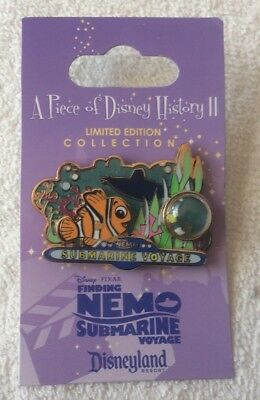DLR - Piece of Disney History 2 - Finding Nemo Submarine Voyage pin NOC