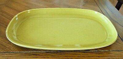 Russel Wright chartreuse platter 13.5 inches Mid-Century Modern style