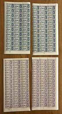St Lucia. 1946 Victory. Set x 2 values in 4 x half sheets. Fine and fresh!