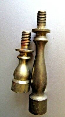 "vintage brass finial risers, 1"" and 2"""