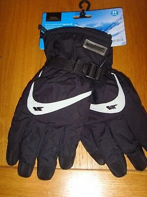 trespass snow sport windproof gloves age 14-16 yrs brand new