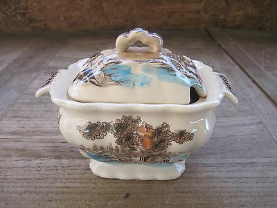 Very Old Small Compote Porcelain Bowl with Lid, No Maker's Marks, Good Condition