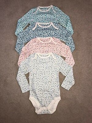 Marks & Spencers Pack Of Floral Bodysuits. Age 2 - 3 Years. Brand New No Tags.