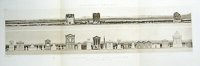 183 ~ ANCIENT ROME VIA APPIA ANTICA APPIAN WAY TOMBS 1910 Architecture Art Print