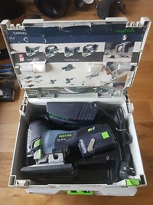Festool PSC 400 EB-Plus GB Battery Pendel Jigsaw Carvex With 4.2Ah In Systainer