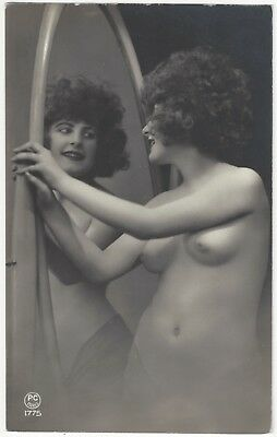 1920 French NUDE Photograph - Big Hair, Perfect Curves