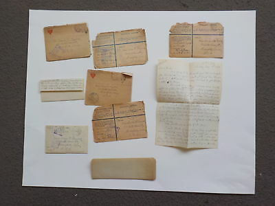 9 WWI Letters France Stars & Stripes Representative 10th Engineers WW1