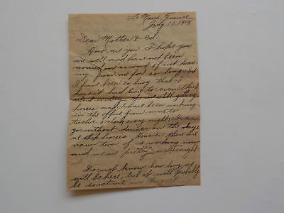 WWI Letter 1918 Chinese Soldiers German Prisoners 130th Field Artillery VTG WW1