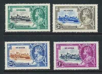 St Lucia 1935 Silver Jubilee Set, Vf Mlh (See Below)