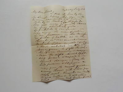 Civil War Letter 1861 Spiritual State In Camp Or Field Of Battle Church Religion