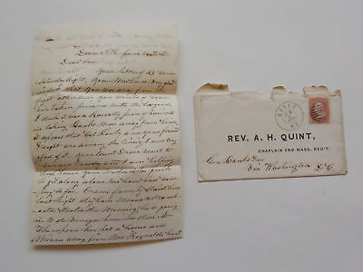 Civil War Letter 1862 Mother Glad Away From Fight General Banks Division Cover N