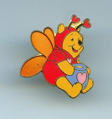 Disney Valentine Winnie the Pooh as Love Bug Butterfly with Hunny Pot Pin