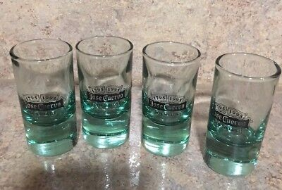 Set Of 4 JOSE CUERVO Dos Siglos Tequila Shot Glasses 1795-1995 limited edition