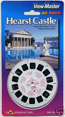 HEARST CASTLE San Simeon California View-Master 3-Reel Packet Sealed Mint