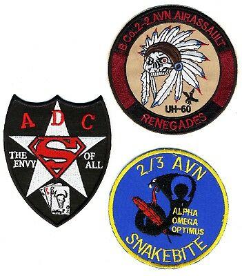 US Army Patch: Aviation Patches.  Total of 3 Patches. Grouping Patch Lot