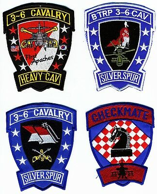 US Army Patch: Air Cavalry Patches.  Total of 4 Patches. Grouping Patch Lot