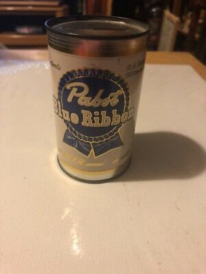 "Vintage 3 1/2"" X 2"" tin can bank advertising PABST BLUE RIBBON BEER"