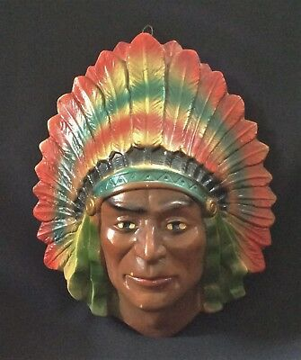 vintage STRING HOLDER American Chief CHALK CHALKWARE COLLECTIBLE