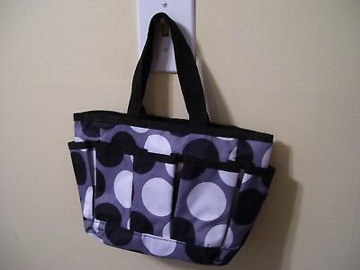 THIRTY ONE Organizer Bag, Small Polka Dot Bag with 5 pockets, VG!