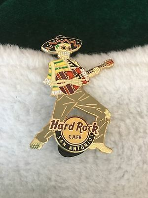 Hard Rock Cafe Pin San Antonio Dia de los Muertas ~ Day of the Dead Skeleton