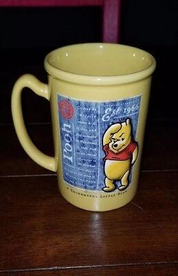 Winnie the Pooh Walt Disney 3D Coffee Tall Mug A Thoughtful Little Bear 16 oz