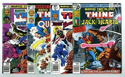 Marvel Two-In-One #48,51,53,55 Avg NM New Marvel Bronze Copper Collection