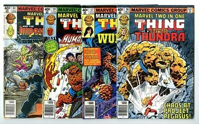 Marvel Two-In-One #56,57,59,60 Avg NM New Marvel Bronze Copper Collection