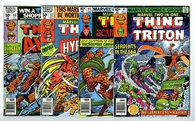 Marvel Two-In-One #65,66,67,68 Avg NM New Marvel Bronze Copper Collection