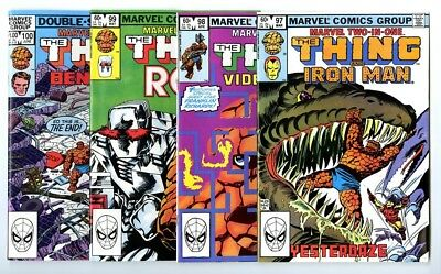 Marvel Two-In-One #97,98,99,100 Avg NM New Marvel Bronze Copper Collection
