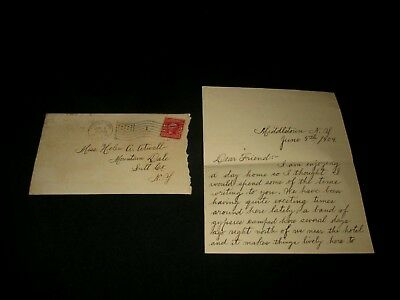 1904 Letter -Middletown, Ny To Mountain Dale, Ny-Band Of Gypsies-Main's Circus