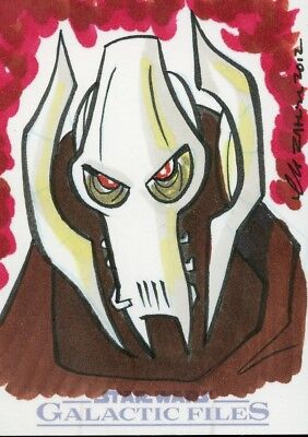 Star Wars Sketch Card - Galactic Files - THOM ZAHLER - General Grievous
