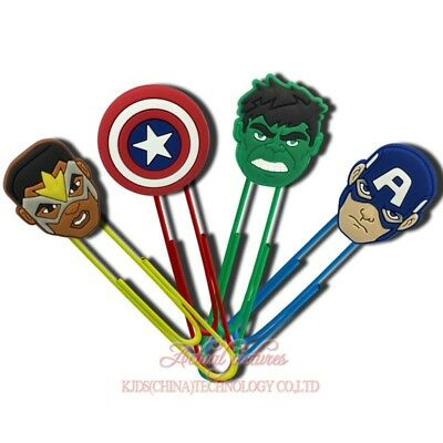 20pcs Avengers Paper Clips Bookmarks DIY Office School Clips Binder as Xmas Gift