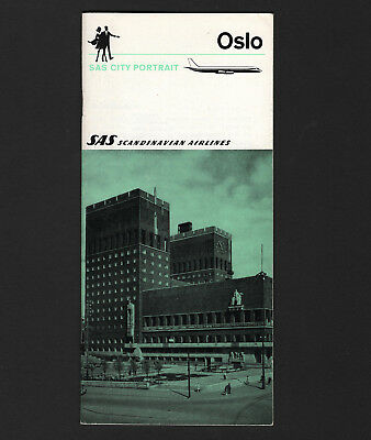 OPC 1969 SAS Scandinavian Airlines 31pg City Portrait Oslo Brochure