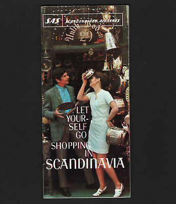 OPC 1969 SAS Scandinavian Airlines 37pg Shopping Brochure for Scandinavia