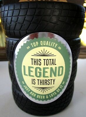 "Beer Holder ""this Total Legend Is Thirsty Just Add Beer..."" Father's Day Gift Bn"