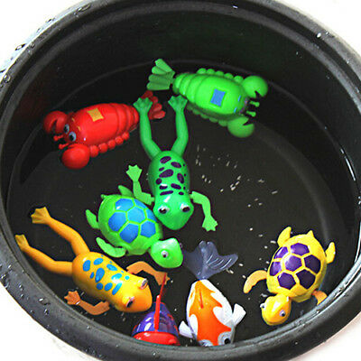 Paddle Wash Bath Bathing Toy Wind-up Animals Toys Christmas Gift for Kids USA
