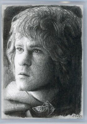LOTR Lord of the Rings - PSC Sketch Card - ANDREW FRY - Merry