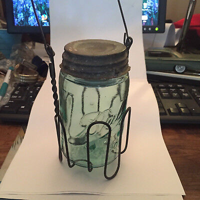 wire bail mason ball fruit jar immerser mascotte disk 1886 pint lid canning