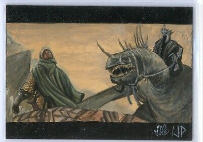 LOTR Lord of the Rings - PSC Sketch Card - Potratz & Hai - Eowyn and Witch King