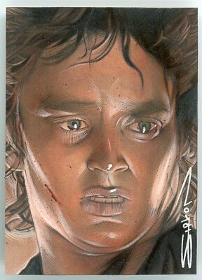 LOTR Lord of the Rings - PSC Sketch Card - RANDY SIPLON - airbrushed - FRODO