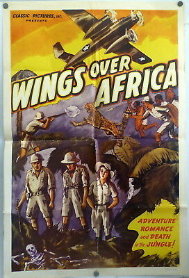 Aviation Wings Over Africa 1930s Original 1 Sheet Movie Poster 1930s Plane