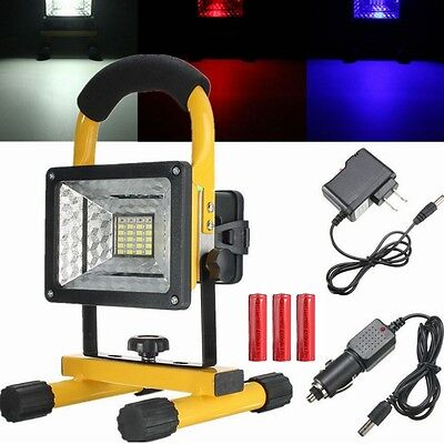 Projecteur Chantier LED Rechargeable 30W 24 LED Portable Spot Outdoor Camping NF