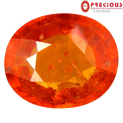4.94 ct PGTL CERTIFIED  OVAL SHAPE (12 X 10 MM) FANTA ORANGE SPESSARTINE