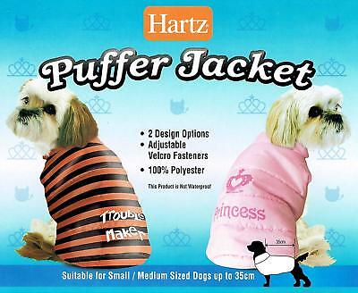 Hartz Dog's Puffer Jacket with Fleece Lining. Dog Coat for Small / Medium Dogs